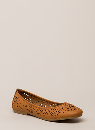 Open Your Eyelets Cut-Out Ballet Flats