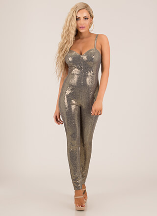 Sparkle All The Way Sequined Jumpsuit
