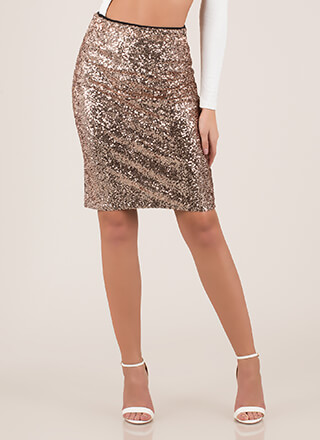 Simply Stunning Sequined Pencil Skirt