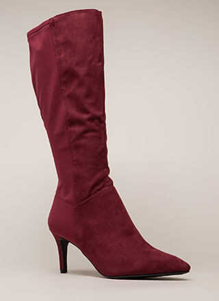 Longing For Pointy Faux Suede Boots