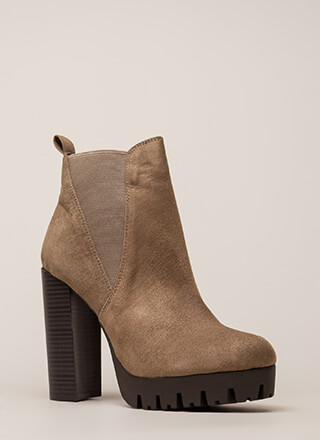 New Adventure Chunky Platform Booties