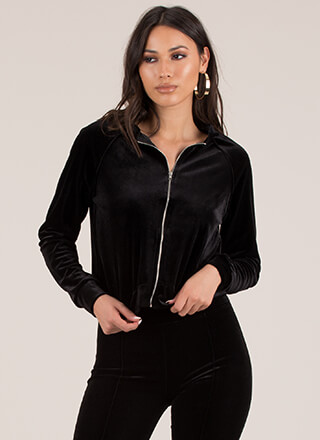Velour Me In Velvet Track Jacket