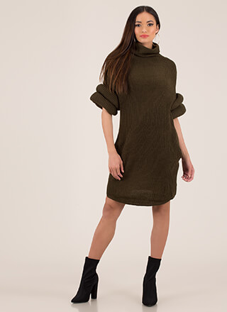 Me Tube Turtleneck Sweater Dress