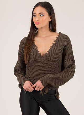 Tatter Of Fact Distressed Knit Sweater