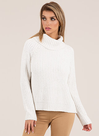 Softie Chenille Turtleneck Sweater