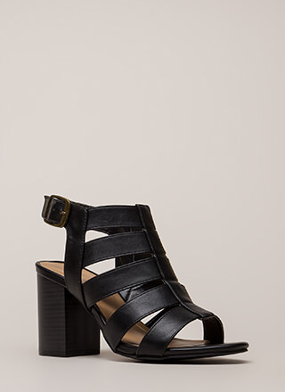Great Taste Strappy Chunky Heels