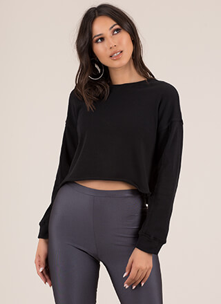 Day In Day Out Cropped Sweatshirt