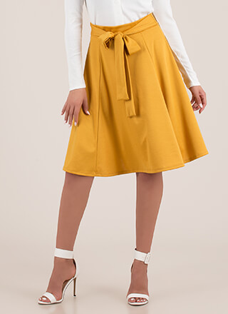 European Vacation Tied Circle Skirt