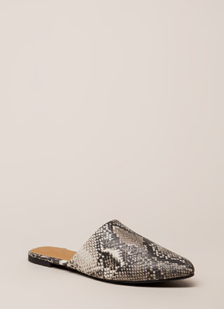 Snake Charming Scaled Mule Flats