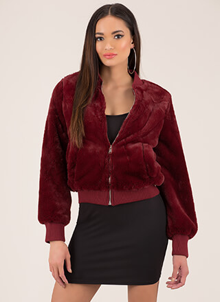 Big Softie Faux Fur Bomber Jacket