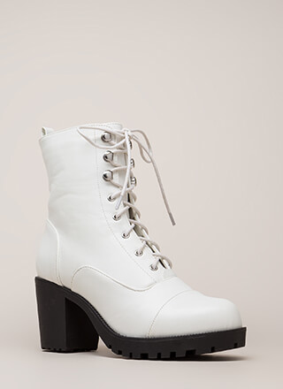 Cool Combat Chunky Lug Sole Booties