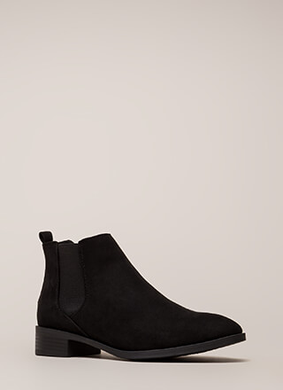 Chelsea Come Lately Faux Suede Booties