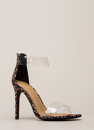 See Clearly Leopard Illusion Heels