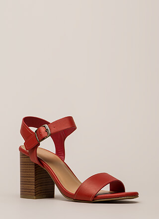 Faithfully Chunky Strappy Heels