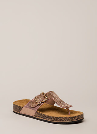 Hippie Bling Jeweled Thong Sandals