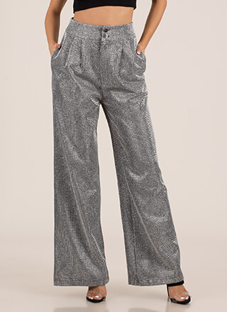 Party Sheen Sparkly Palazzo Pants