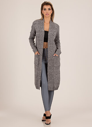 Warmed Thru Knit Duster Cardigan