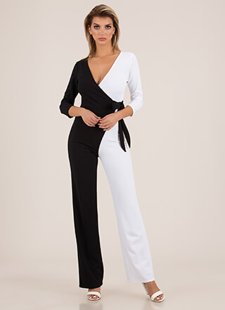 Half A Good Night Colorblock Jumpsuit