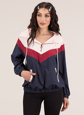 Hoodie Kinda Girl Windbreaker Top