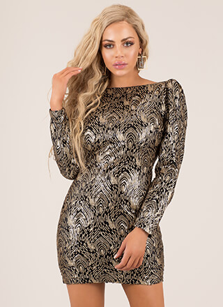 Glam Girl Swirly Sequined Minidress