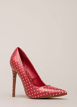 Just Spotted Pointy Polka Dot Pumps