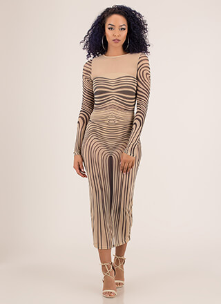 Curves For Days Graphic Mesh Maxi