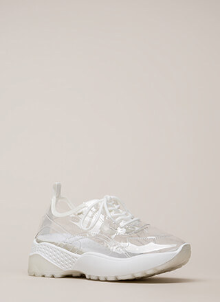 Clear Winner PVC Platform Sneakers