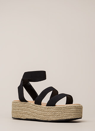 Beachy Keen Strappy Espadrille Sandals