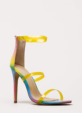 Clear As Day Strappy Stiletto Heels