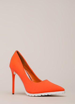 All You Need Is Lug Pointy Pumps
