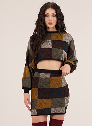 Check The Box Knit 2-Piece Dress
