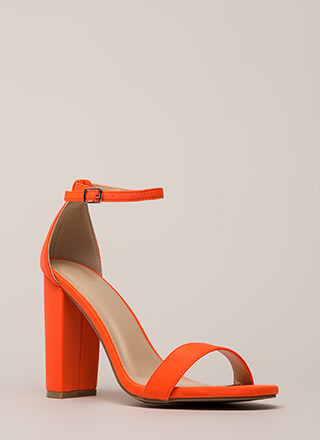 Fun Nights Chunky Ankle Strap Heels