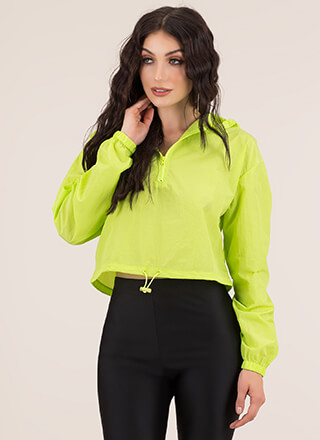 Whoosh Cropped Windbreaker Top