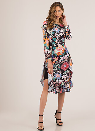 Botanical Beauty Floral High-Low Top