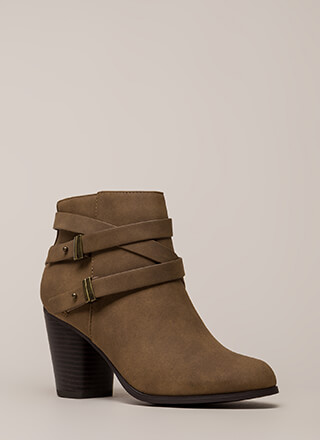 Wrapped Around The Block Strappy Booties