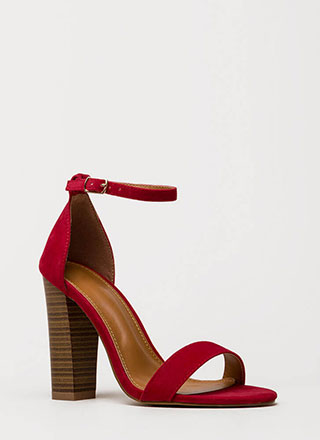 Lure Me In Chunky Ankle Strap Heels