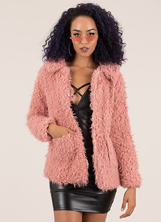 You Better Furry Up Faux Shearling Coat