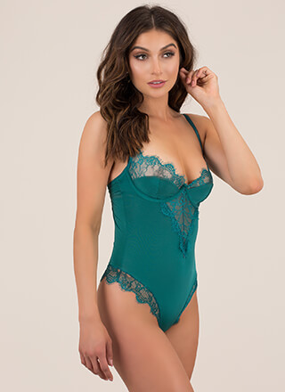 Lace Have A Good Night Bustier Bodysuit