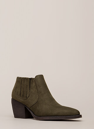 Only In Legends Block Heel Booties