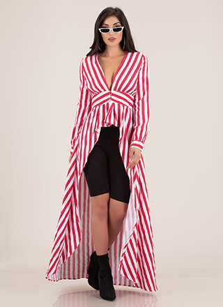 More Stripes Please High-Low Maxi Top