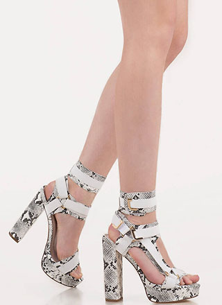 Band Mate Caged Faux Snake Platforms