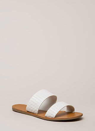 Basket Case Woven Slide Sandals