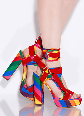 Band Mate Caged Rainbow Platforms