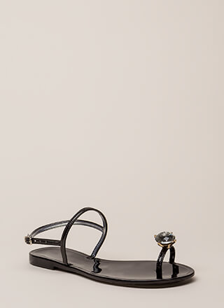 Crown Jewel Strappy Jelly Sandals
