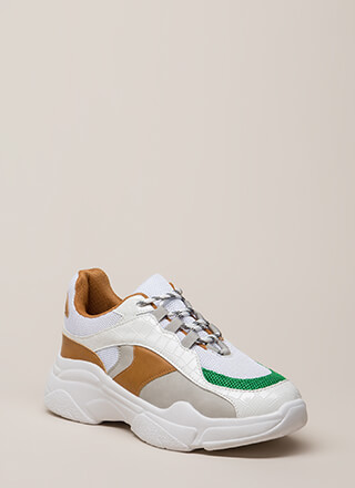 Mix It Up Colorblock Platform Sneakers