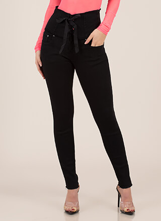 Laced It High-Waisted Skinny Jeans