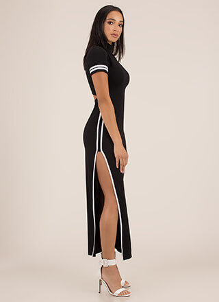 Miss MVP Sporty Slit Maxi Dress