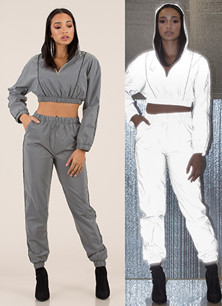 Flash Mob Reflective 2-Piece Jogger Set