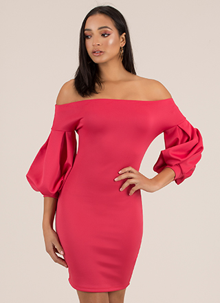 Puff Love Off-The-Shoulder Dress