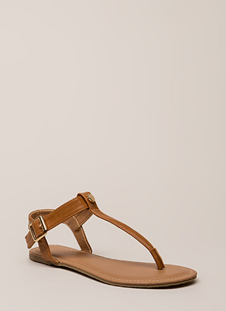 That's The Way T-Strap Sandals